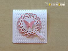 Baby Shower Invitations MFT Die-namics Open Scallop Doily Duo die-cuts