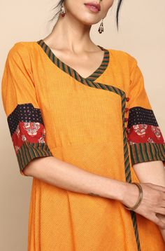 ruffle kurta with slit - indigo & dahlias Kurta Designs, Blouse Designs, Dress Designs, Angrakha Style, Lycra Leggings, Indigo Prints, Kurta With Pants, Kurta Neck Design, Teal Fabric