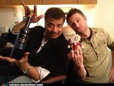 Chris Hardwick and Neil D. Tyson! Amazeballs!!