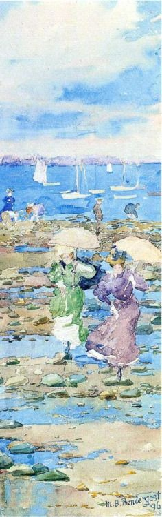 julietkmille:  Summer Visitors, 1896 by Maurice Prendergast
