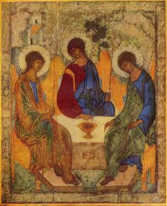 Trinity by Andrei Rublev, 1360-1430.