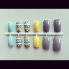 Hey, I found this really awesome Etsy listing at https://www.etsy.com/listing/100391323/pastel-tribal-nail-set