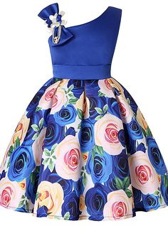 Kids Toddler Girls' Active Sweet Christmas Daily Holiday Solid Colored Floral Color Block Print Sleeveless Above Knee Rayon Polyester Dress Purple 2019 - African Dresses For Kids, Girls Party Dress, African Fashion Dresses, Little Girl Dresses, Girls Dresses, Dress Girl, Gown Dress, Party Dresses, Organza Dress