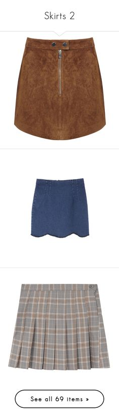 """""""Skirts 2"""" by tacoxcat ❤ liked on Polyvore featuring skirts, mini skirts, bottoms, saias, faldas, tan, tan suede skirt, zipper mini skirt, miss selfridge and short brown skirt"""