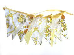vintage yellow pennants