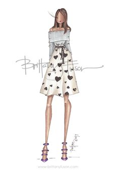NYFW | J.Crew | queen of hearts | fashion illustration | Brittany Fuson| Be Inspirational ❥|Mz. Manerz: Being well dressed is a beautiful form of confidence, happiness & politeness