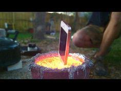 An iPhone Meets It End in a Vat of Molten Aluminum