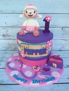 Lambie first birthday cake by Natasha Rice Cakes