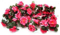 Artificial Floral Bale (Dark Pink)