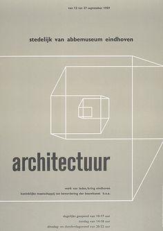 Architectuur werk van leden poster c1959