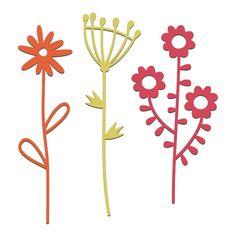 Set of 3 Papercut Flowers
