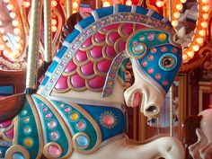 'Colorful Pony' - photo by Jennifer Brisbois (ineedlu), via Flickr;  at Birchwood Mall,  Fort Gratiot, Michigan