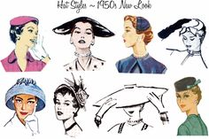 Hat styles - 1950s New Look