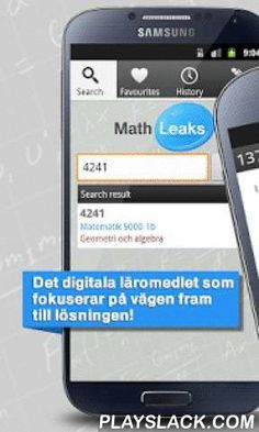 Mathleaks  Android App - playslack.com , Detailed and educational solutions to the exercises in your math textbook easily accessible by your mobile phone or tablet!Mathleaks is a completely new type of digital educational material focusing on the solution, not just the answer. Solutions to math textbooks in Swedish secondary school, high school and adult education with educational graphs, explanatory texts and step-by-step computations makes it easy for students to work independently and…