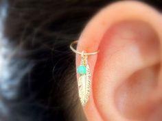 Chain ear cuff fake piercing, Non pierced fairy leaf earcuffs, Amethyst earrings gemstone ear jacket, Tribal elven jewelry ear crawler - Custom Jewelry Ideas Piercing Tattoo, Body Piercings, Cartilage Piercings, Daith, Cartilage Piercing Hoop, Double Cartilage, Tongue Piercings, Cute Jewelry, Body Jewelry