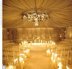 winter wedding tent