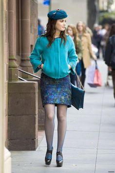 Blair Waldorf (Diane Von Furstenberg jacket,Carolina Herrera dress,Stuart Weitzman shoes)