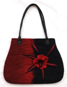 Oooh.... felt purse in my favorite colors. $89