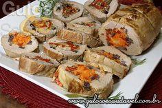 Filé Mignon Suíno Recheado com Legumes » Carnes, Receitas Saudáveis » Guloso e Saudável