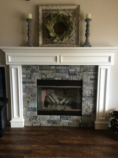 Airstone fireplace. Spring creek color