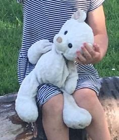Lost at Hamble, Southampton on 21 May. 2016 by Katie: He is an (off) White Harrods Teddy bear. He has a green badge on his chest and writing on his foot All Is Lost, Security Blanket, Lost & Found, Southampton, Harrods, Pet Toys, Cuddling, Sailing, Badge