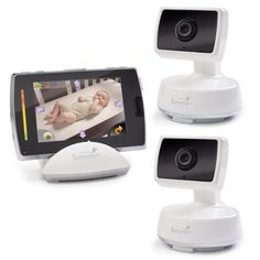 "Do you have two little ones in the house? If so, this ""two cameras in one"" baby monitor is a must. Not only can new parents remotely control pan/zoom functions, an on-screen temperature reading will let you know if it's a too hot or too cold in the nursery, and two-way communication makes being in two places at once your newest superpower."