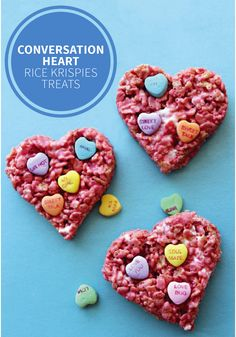 Conversation Hearts are a creative and tasty way to tell your friends and family you care this Valentine's Day. Give this Rice Krispies Treats® recipe a try for a fun homemade version you can make with the kids.
