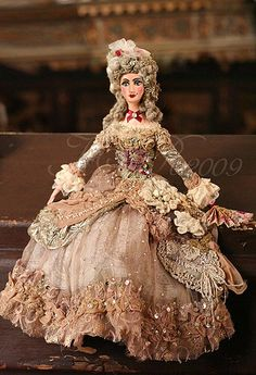 Madame de Pompadour ooak art doll by mskris09, via Flickr