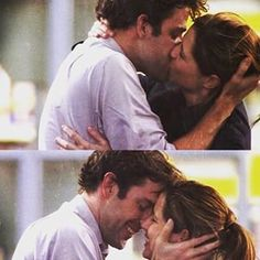 When they kissed like this and you nearly died from the cuteness:   26 Times Jim And Pam's Relationship Was Way, Way Too Real