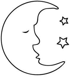 dibujos de la luna llena para colorear  Proyectos que intentar