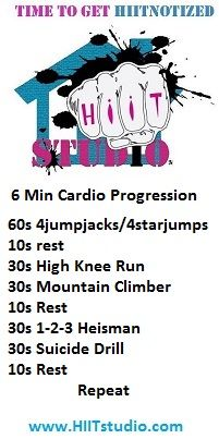 Get the blood pumping and fat burning with this quick HIIT progression