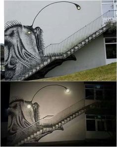 Art by the stairs