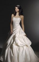 Wholesale Ball Gown Floor-length Strapless White Chiffon Dress