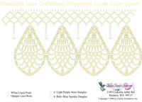 Free Beaded Christmas Ornament Covers | Pineapple Lace Christmas Ornament Cover Bead Graph for Beading