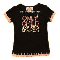 Only Child Expiring Rhinestone Shirt