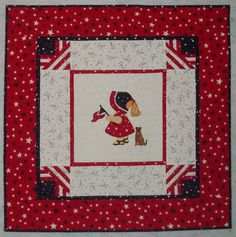 PDF Download - Patriotic Sunbonnet Sue Wall Hanging Pattern - $9.00