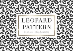 Leopard Pattern by Sugar and Ink on @creativemarket