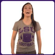 LSU Tri-Blend Ladies Classic Football Tee