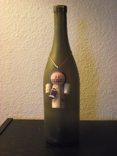 wine cork football player / bottle decoration by AvilaRoseGarden