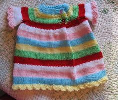 knitted baby dress by queen b creative me