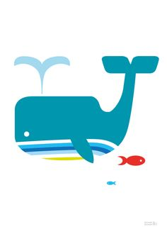 Whale Print   Showler & Showler