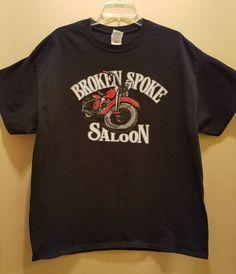 10c67a8ddec564 Vintage 90s Broken Spoke Saloon Mens Graphic T-Shirt Mens XL Sturgis Harley  HD