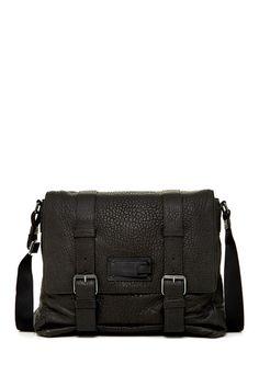 e4e27030eaee Pebbled Leather Buckle Flap Messenger
