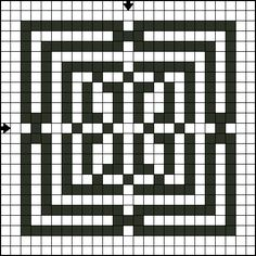 Free Cross Stitch Square Cross Stitch Patterns: Free Cross Stitch Pattern - Constricted Square