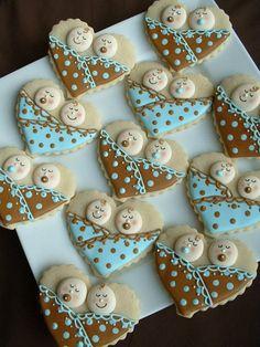 Twin baby shower cookies
