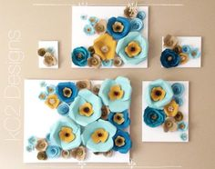 This is an adorable version of a paper flower wall! The 5 pieces as shown can be mixed and matched in a number different ways to suit your style or needs. This item can be fully customized and can be