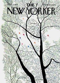 The New Yorker Cover - April 1971 Regular Giclee Print par Raymond Davidson sur AllPosters. The New Yorker, New Yorker Covers, Magazine Cover Design, Magazine Art, Magazine Covers, Poster Prints, Art Prints, Block Prints, April 3