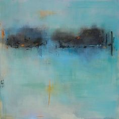 Get lost in the serene color fields in Jacquie Gouveia's abstract paintings.