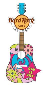Hard Rock Cafe Japan | Groovy Mantra Guitar Pin