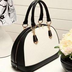 Beautiful Black and White Hand Bag